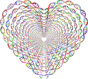Chromatic-DNA-Helix-Heart-Tunnel-No-Background. Autor GDJ. Open Clipart