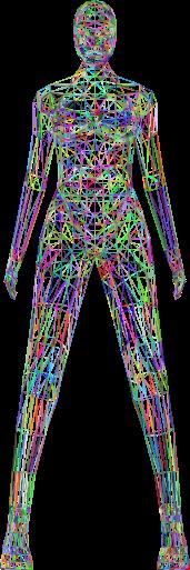 Low-Poly-Female-Body-Wireframe-Prismatic. Autor GDJ. Open Clipart